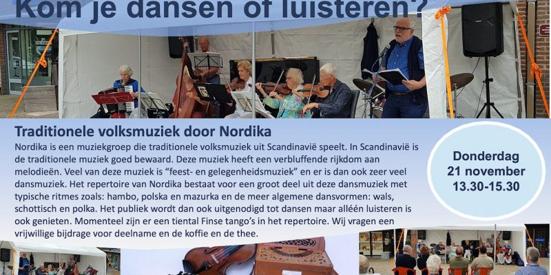 Kom Je Dansen Of Luisteren? Traditionele Volksmuziek Door Nordika.